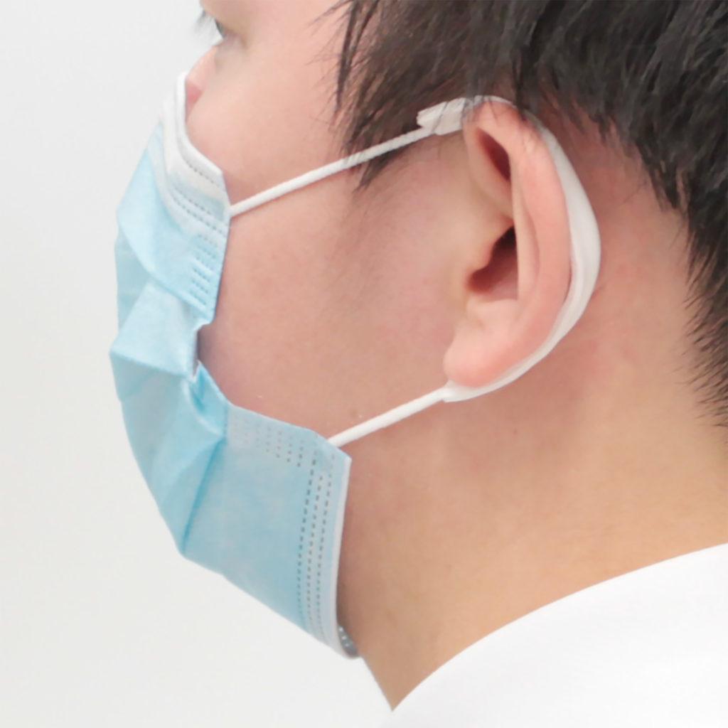 マスクのひもで圧迫される耳介のMDRPU予防